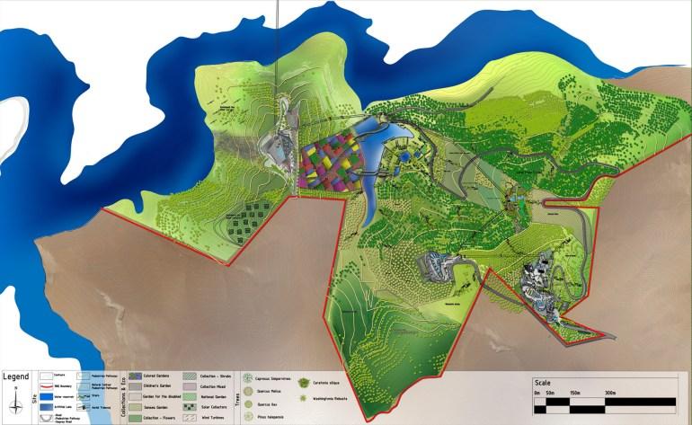 Royal Botanic Garden - Tal Alrumman Jordan - Visitor complex Suleiman Alhadidi