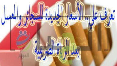 اسعار السجائر والمعسل الجديدة