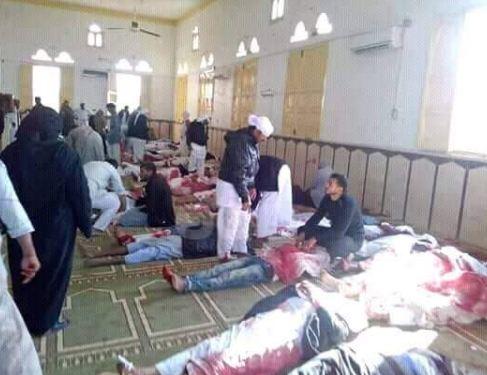 تفجير مسجد بالعريش