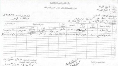 التقديم في وظائف الحكومة المصرية