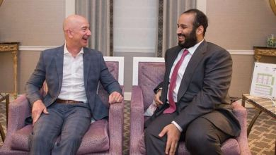 ولي العهد السعودي مع مؤسس شركة أمازون