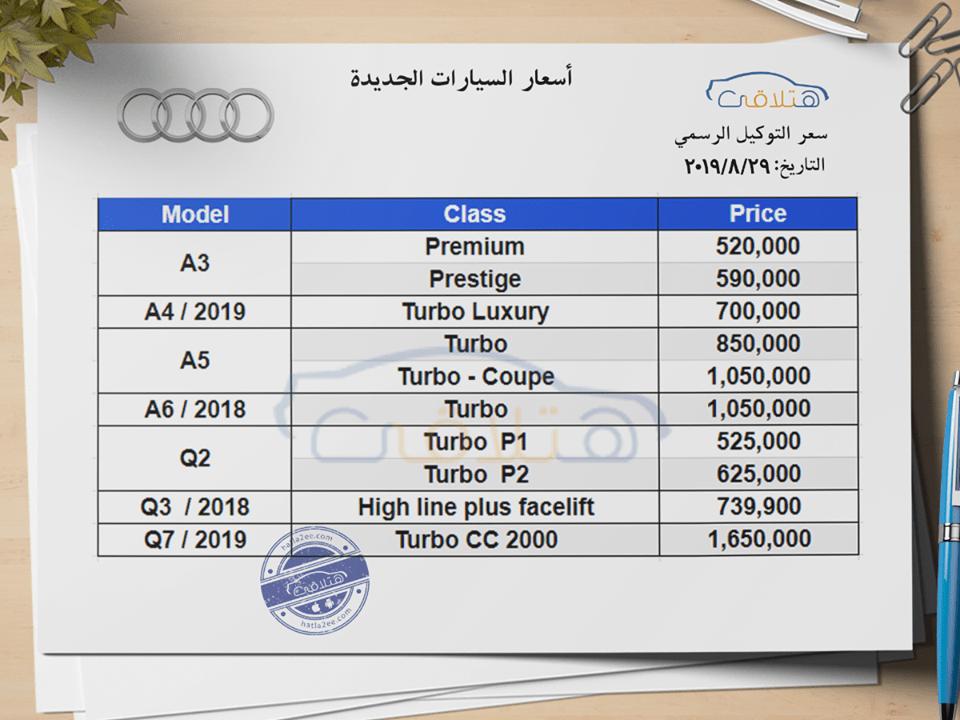 أسعار سيارات أودي