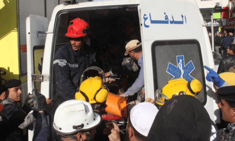 انهيار أتربة على مصريين في مملكة الأردن - اسعاف