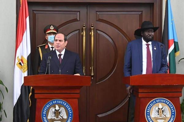 السيسي ورئيس جنوب السودان
