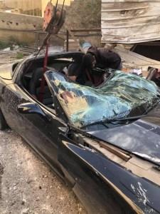 """, عاجل / مالك مركبة """"الكورفت"""" يعلق على حادثة سقوط  مركبته … صور"""