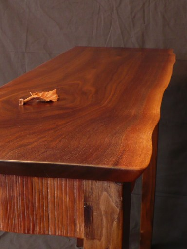 Custom walnut hall table