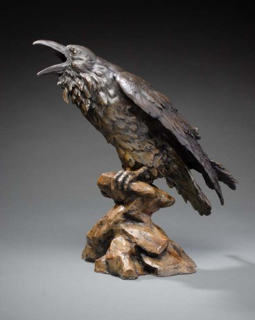 Bronze sculpture, Al Hone,Raven