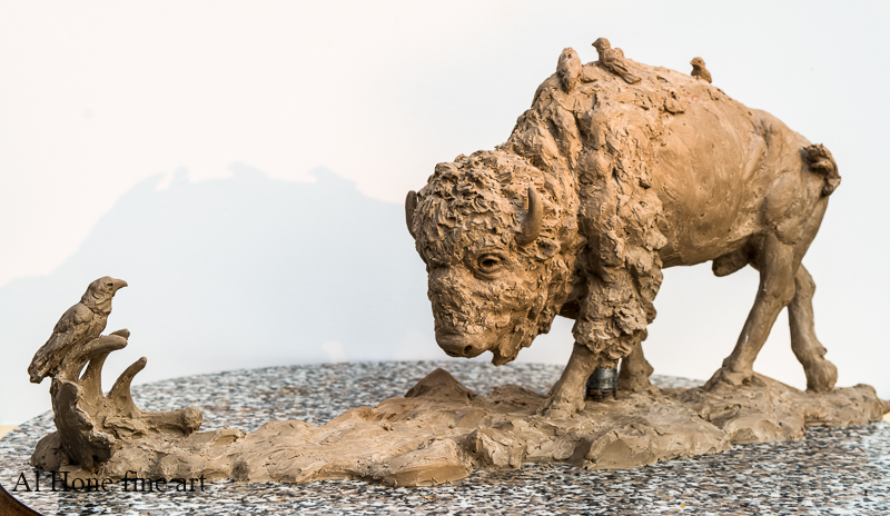 Al Hone Sculpture. Bison
