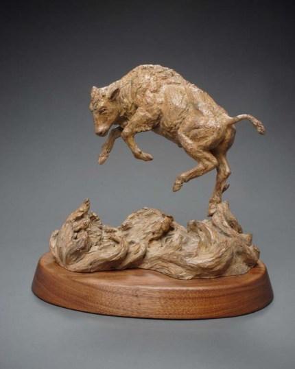 Bronze sculpture, Al Hone,buffalo