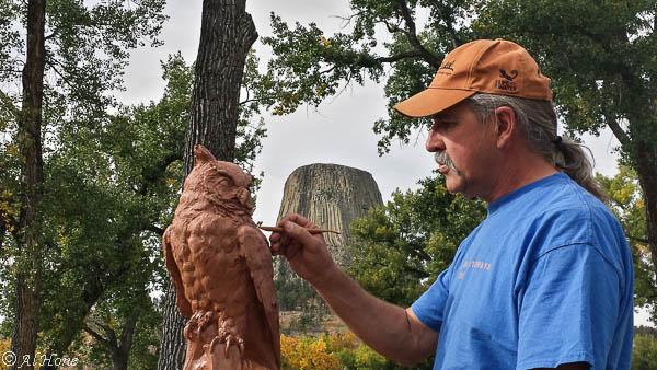 Newest bird sculptures, owl, hidden wisdom