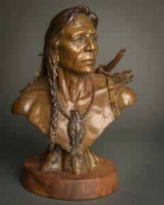 native american bronze sculpture