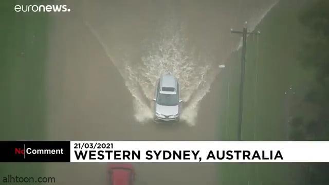 شاهد: الفيضانات تجتاح استراليا وتغرقها - صحيفة هتون الدولية