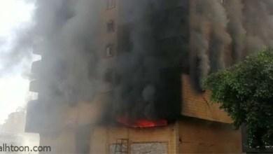 شاهد: حريق في عمارة تجارية بالرياض - صحيفة هتون الدولية