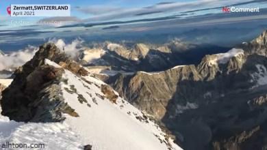 شاهد: مغامر يتسلق جبال شاهقة في سويسرا - صحيفة هتون الدولية