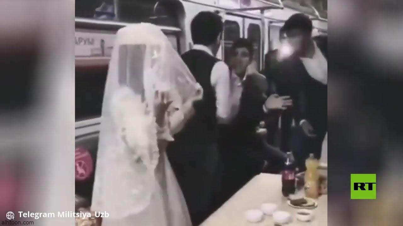 شاهد: حفل زفاف داخل مترو أنفاق - صحيفة هتون الدولية