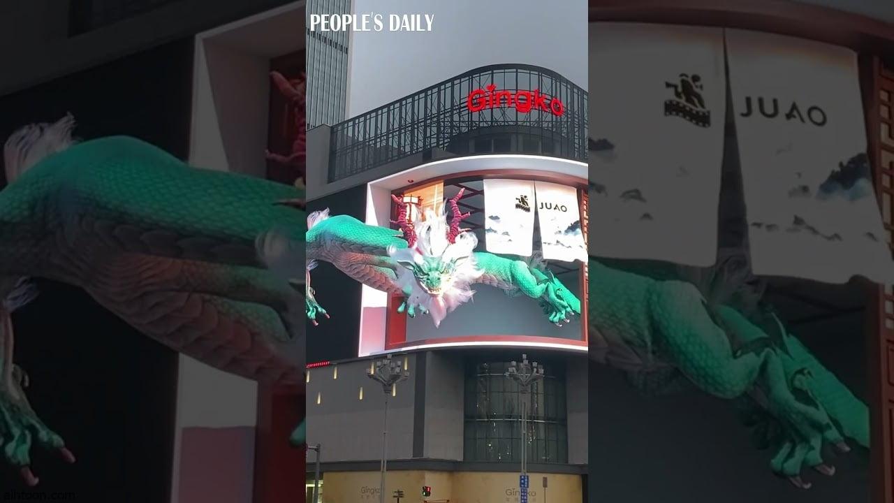 شاهد: تنين مخيف يتجول في الصين - صحيفة هتون الدولية