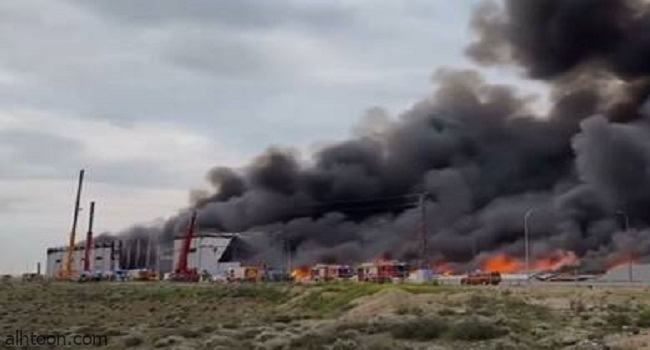 حريق هائل في إسبانيا