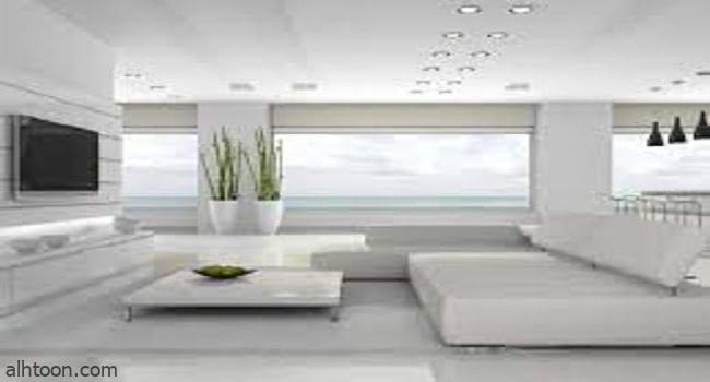 ديكور غرفة المعيشة البيضاء -صحيفة هتون الدولية