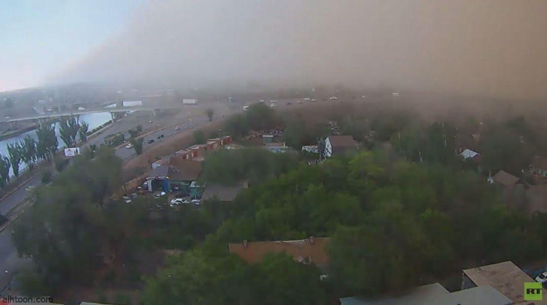 شاهد: عاصفة رملية تضرب مدينة روسية - صحيفة هتون الدولية