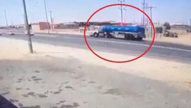 شاهد: حادث مروع بين صهريج ومركبة بالطائف - صحيفة هتون الدولية