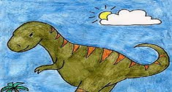 كيفية رسم ديناصور -صحيفة هتون الدولية