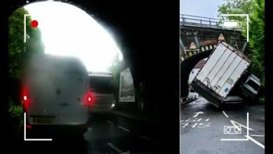 شاهد: حادث مروع في نفق - صحيفة هتون الدولية