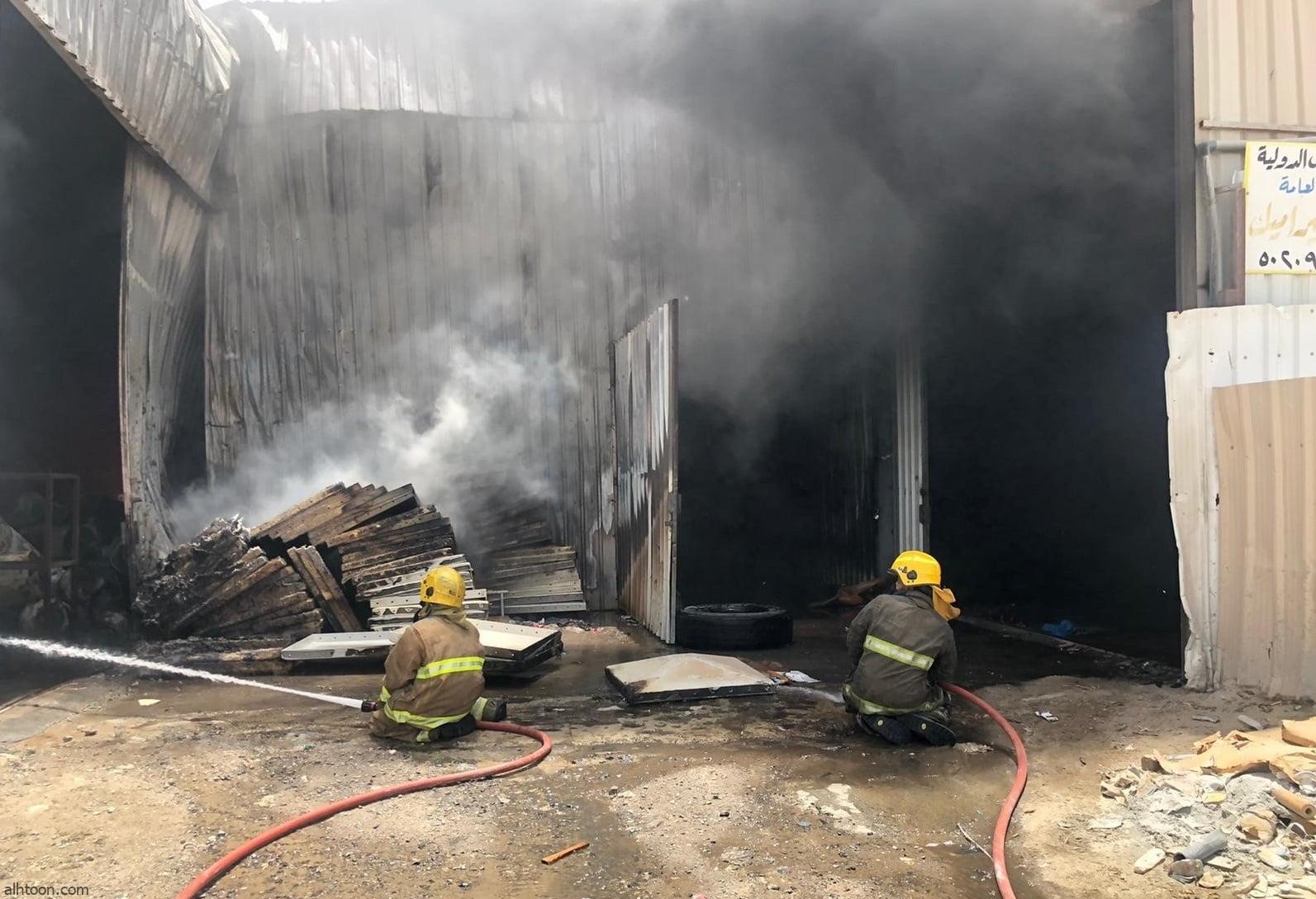 شاهد: حريق في سكراب أمغرة بالكويت - صحيفة هتون الدولية