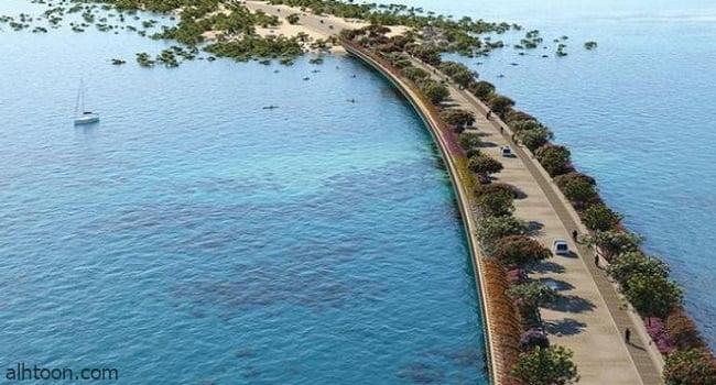 جسر يربط جزيرة شُريرة السعودية