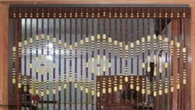 أشكال عصرية من تصاميم ستائر الخرز -صحيفة هتون الدولية