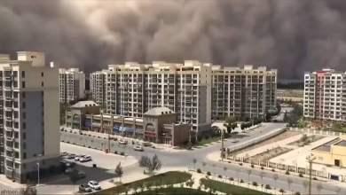 شاهد: عاصفة رملية تجتاح الصين - صحيفة هتون الدولية