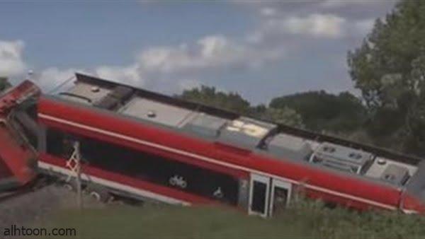 """شاهد: اصطدام قطار بـ""""شاحنة"""" - صحيفة هتون الدولية"""