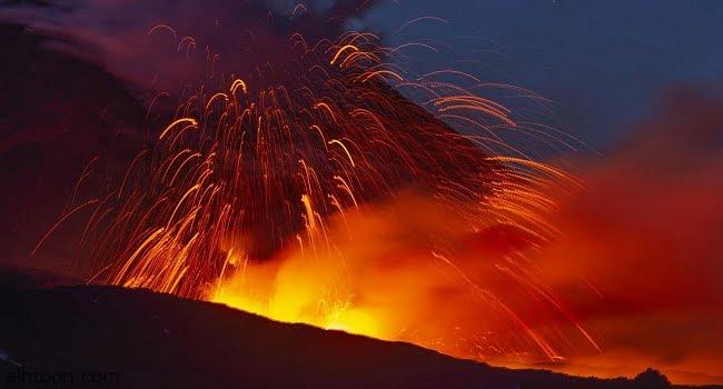 """شاهد: ثوران بركان """"إتنا"""" في إيطاليا - صحيفة هتون الدولية"""