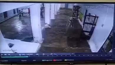 شاهد: لحظة سقوط سقف وجدران سجن - صحيفة هتون الدولية