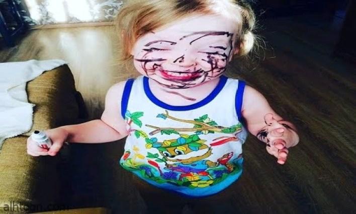 صور مضحكة لأطفال مشاغبين -صحيفة هتون الدولية