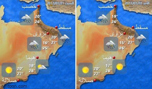 إنذار مبكر في سلطنة عمان بسبب الطقس - صحيفة هتون الدولية