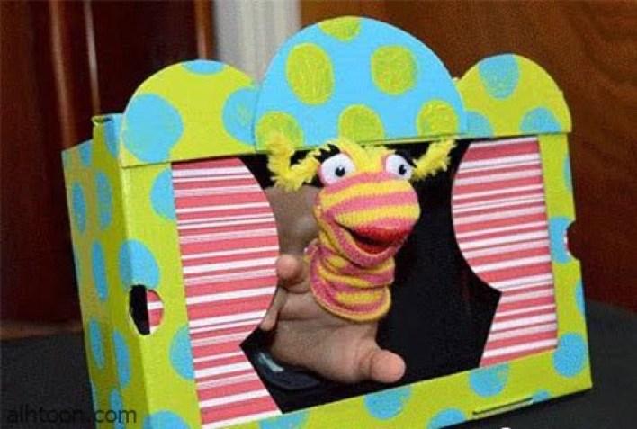 العاب يمكن صنعها لطفلك بالورق المقوى -صحيفة هتون الدولية