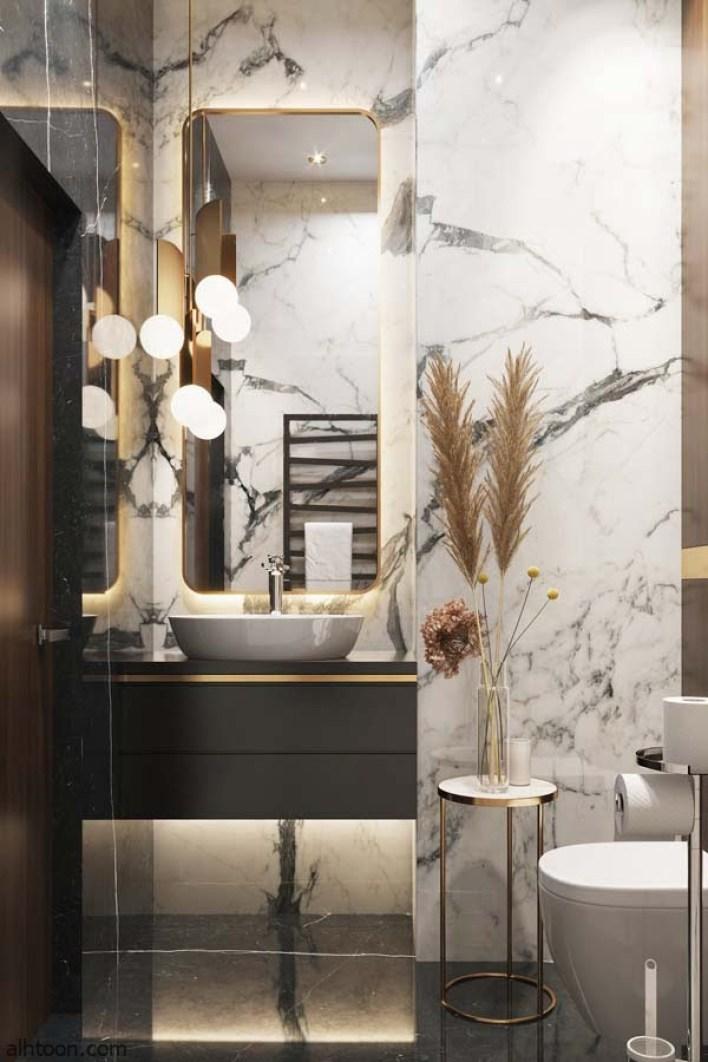 أروع ديكورات حمامات باشكال وألوان مميزة -صحيفة هتون الدولية