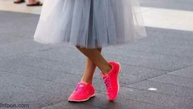 أحذية تتناسب مع التنانير والفساتين
