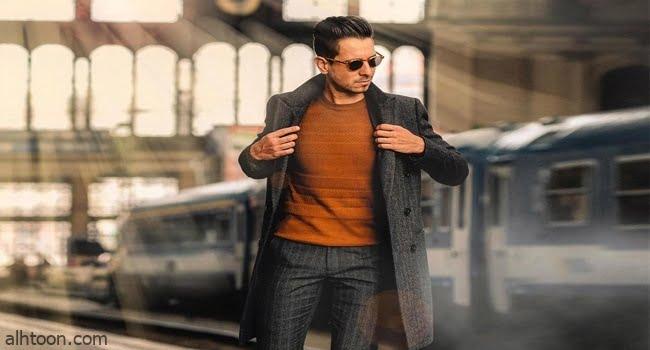 تنسيق المعطف الطويل للرجال