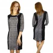 New-2015-Fashion-3-4-Sleeve-Dresses-Women-Work-Wear-Sexy-Formal-Slim-Dress-Plus-Size3