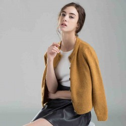 2015-Korean-New-Autumn-Winter-Women-Thick-Fashion-Knitted-Sweater-Long-Sleeve-O-neck-Short-Cardigan-1
