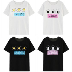 2015-spring-and-summer-new-Fashion-HALAJUKU-soft-cute-Japanese-letter-egg-rice-ball-print-short-1