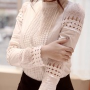 Autumn-Korean-OL-style-sweet-lady-lace-hollow-long-sleeved-shirt-stand-collar-white-blouse-women-3