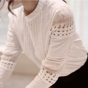Autumn-Korean-OL-style-sweet-lady-lace-hollow-long-sleeved-shirt-stand-collar-white-blouse-women-4