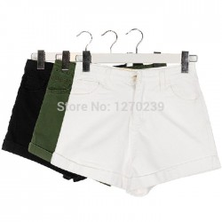KZ35-Seasons-Necessary-Vintage-Basic-Models-Washed-Denim-Shorts-Women-High-Waist-Jeans-Shorts-White-Green-1