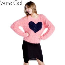 Wink-Gal-2015-Autumn-Winter-O-Neck-Heart-Pattern-Pink-Women-Knitted-Sweaters-and-Pullovers-deal-1
