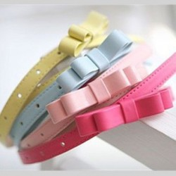 free2014-Hot-Fashion-Candy-Color-bow-Thin-Women-pu-casual-Leather-Belt-brand-Waistband-Female-Straps-1