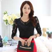 New-arrival-2015-Floral-lace-Tops-Women-basic-shirt-Long-sleeve-Plus-size-V-neck-lace-5