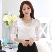 New-arrival-2015-Floral-lace-Tops-Women-basic-shirt-Long-sleeve-Plus-size-V-neck-lace-6