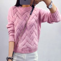 2016-Loose-pullovers-Sweaters-Women-s-thicker-section-casual-Long-sleeved-Knit-sweater-Christmas-Pull-femme-1